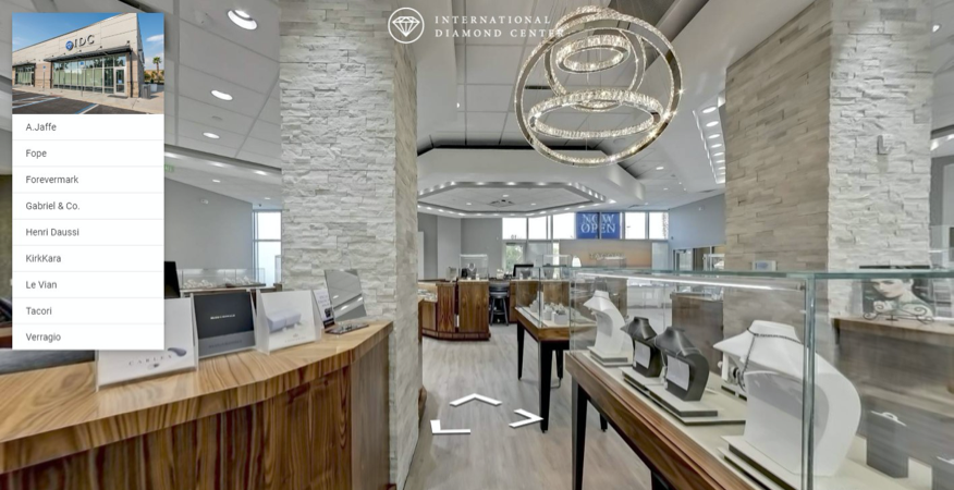 Custom Virtual Tour View of International Diamond Center