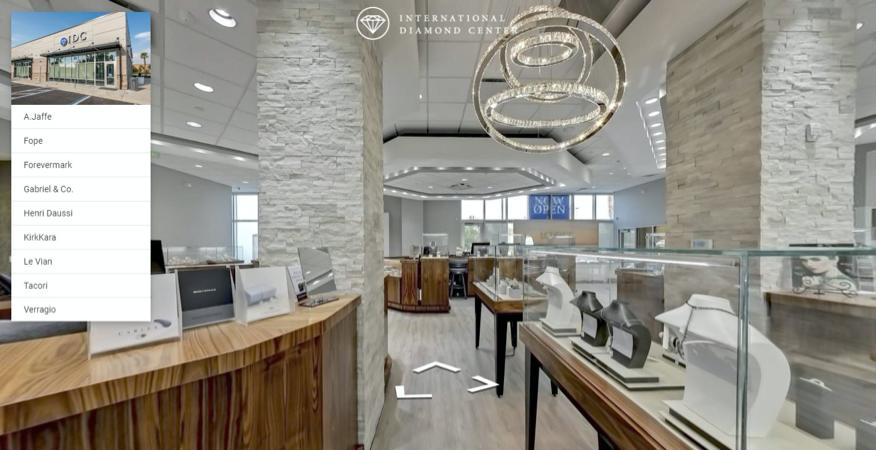 Custom Virtual Tour View of International Diamond Center