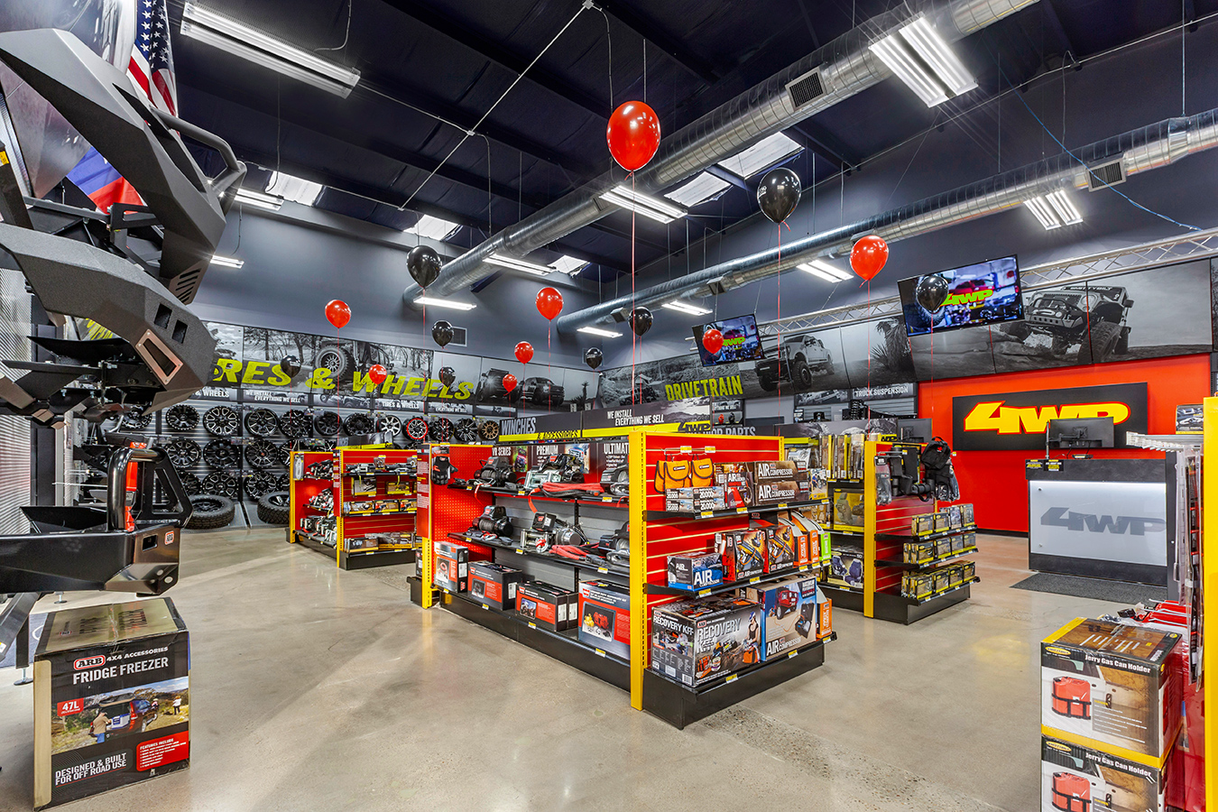 Interior View of 4WP Store During Grand Opening