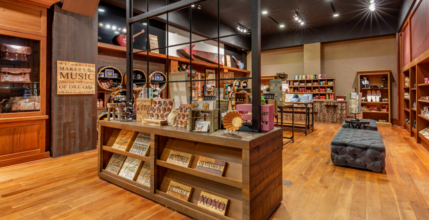 Interior of Rustic, Country-Style Retail Store