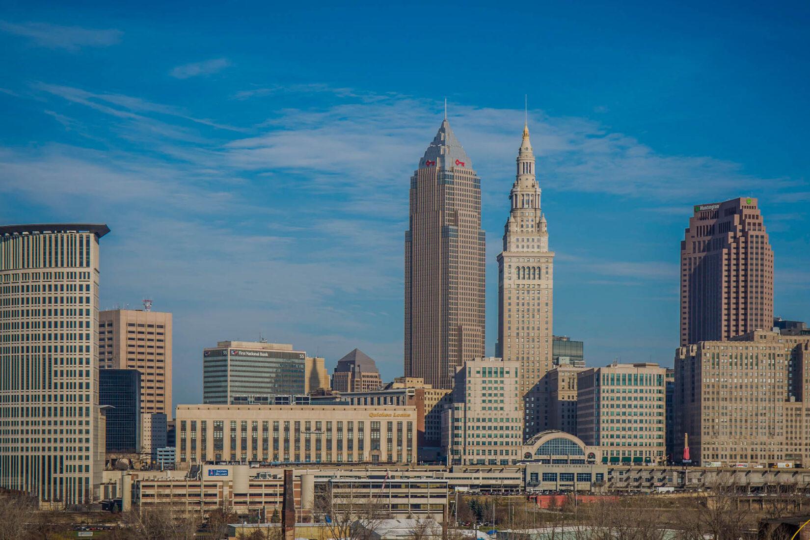 Cleveland Skyline on a Sunny Day