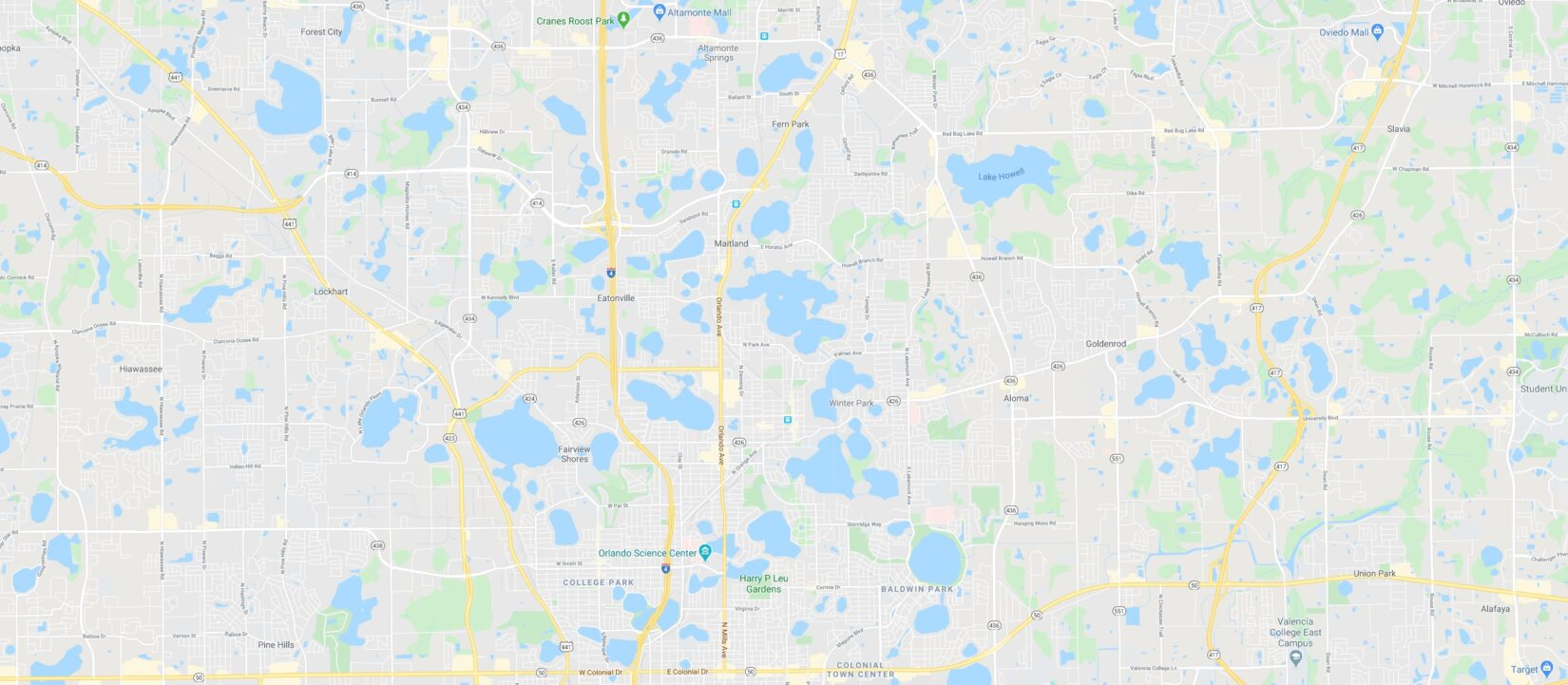 Google Maps of the Orlando/Maitland Area