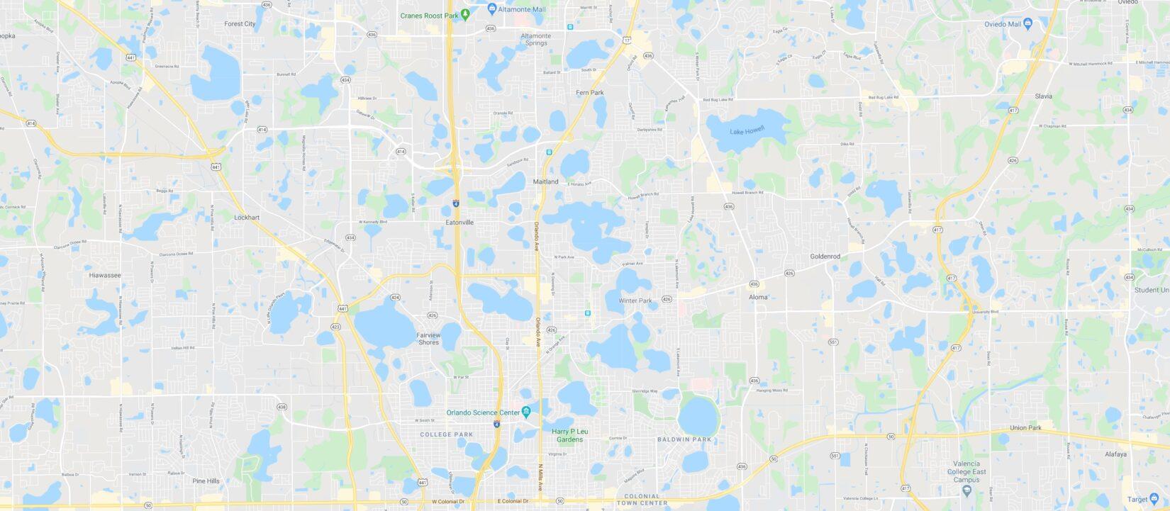 Google Maps of the Orlando/Maitland Area