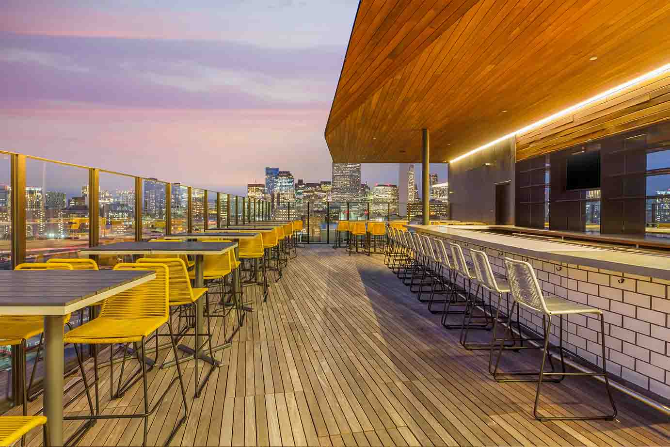 Chic Hotel Rooftop Bar in the City