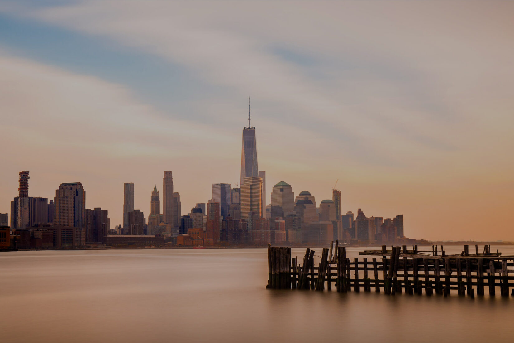 Partial View of the New York City Skyline from the Water