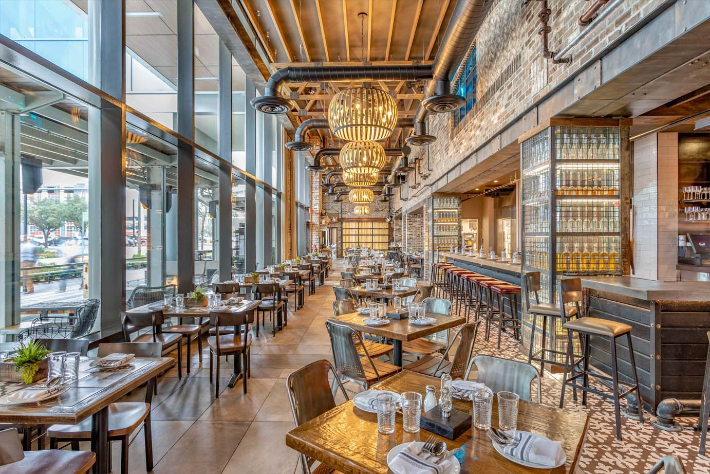 Rustic and Upscale Restaurant Dining Room