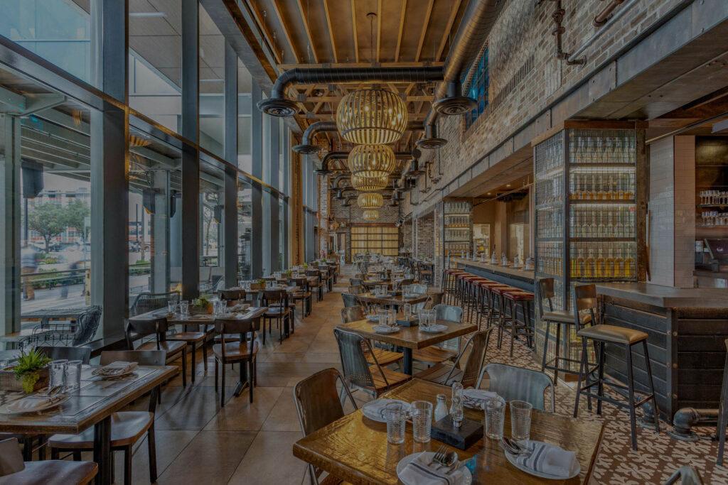 Darkened Image of Rustic Restaurant