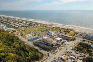 drone hotel beach