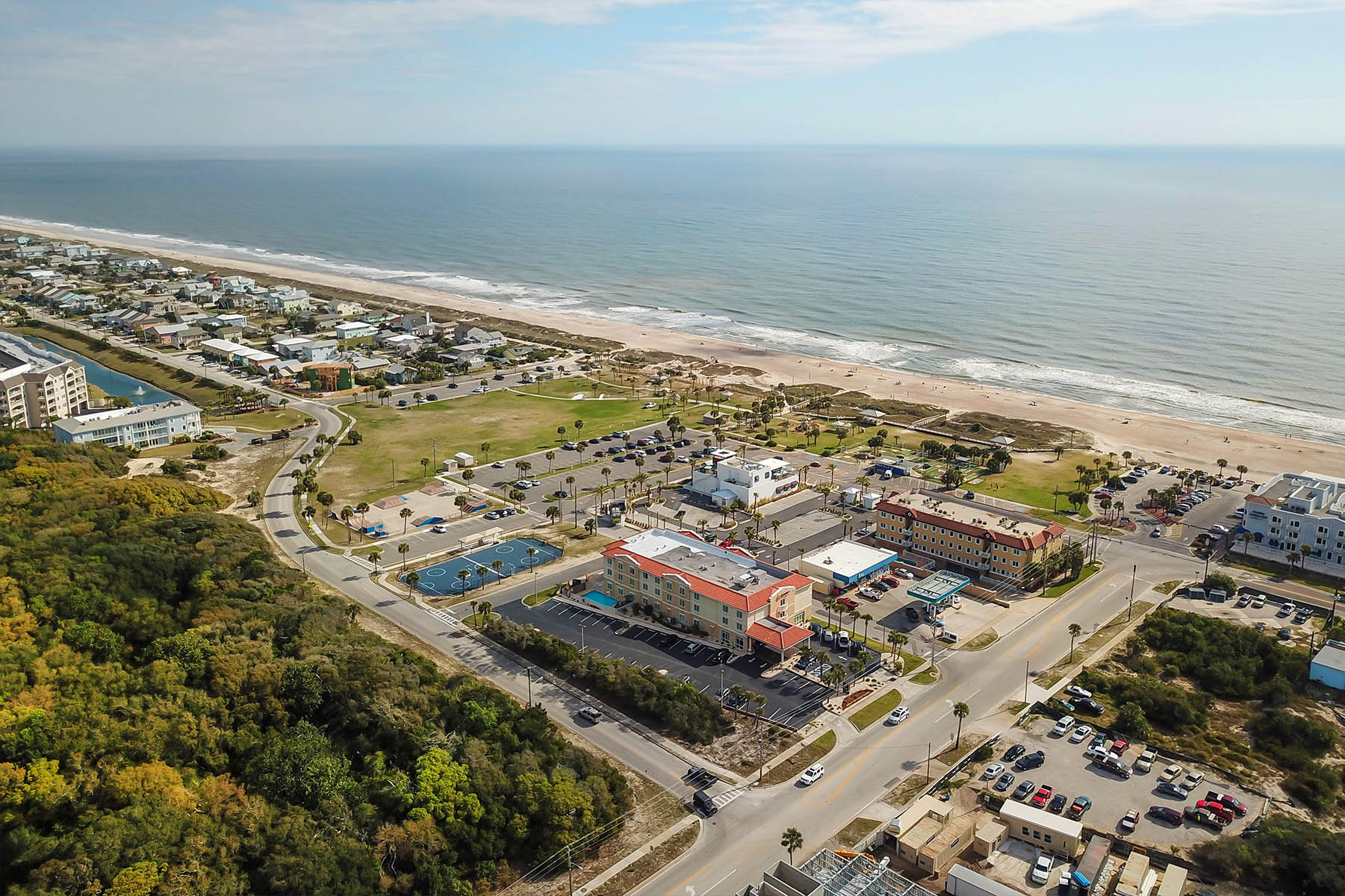 Aerial Photography View of Hotel on the Beach