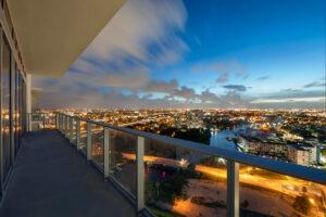 miami balcony dusk