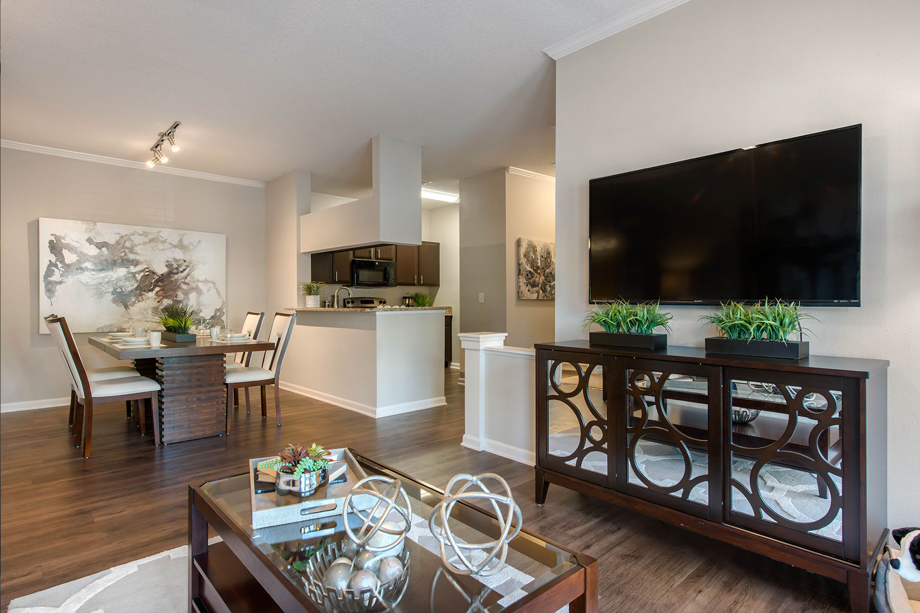 Apartment Model Living and Dining Room