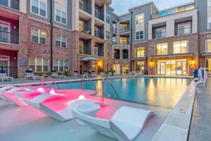 poolside pink bubbler