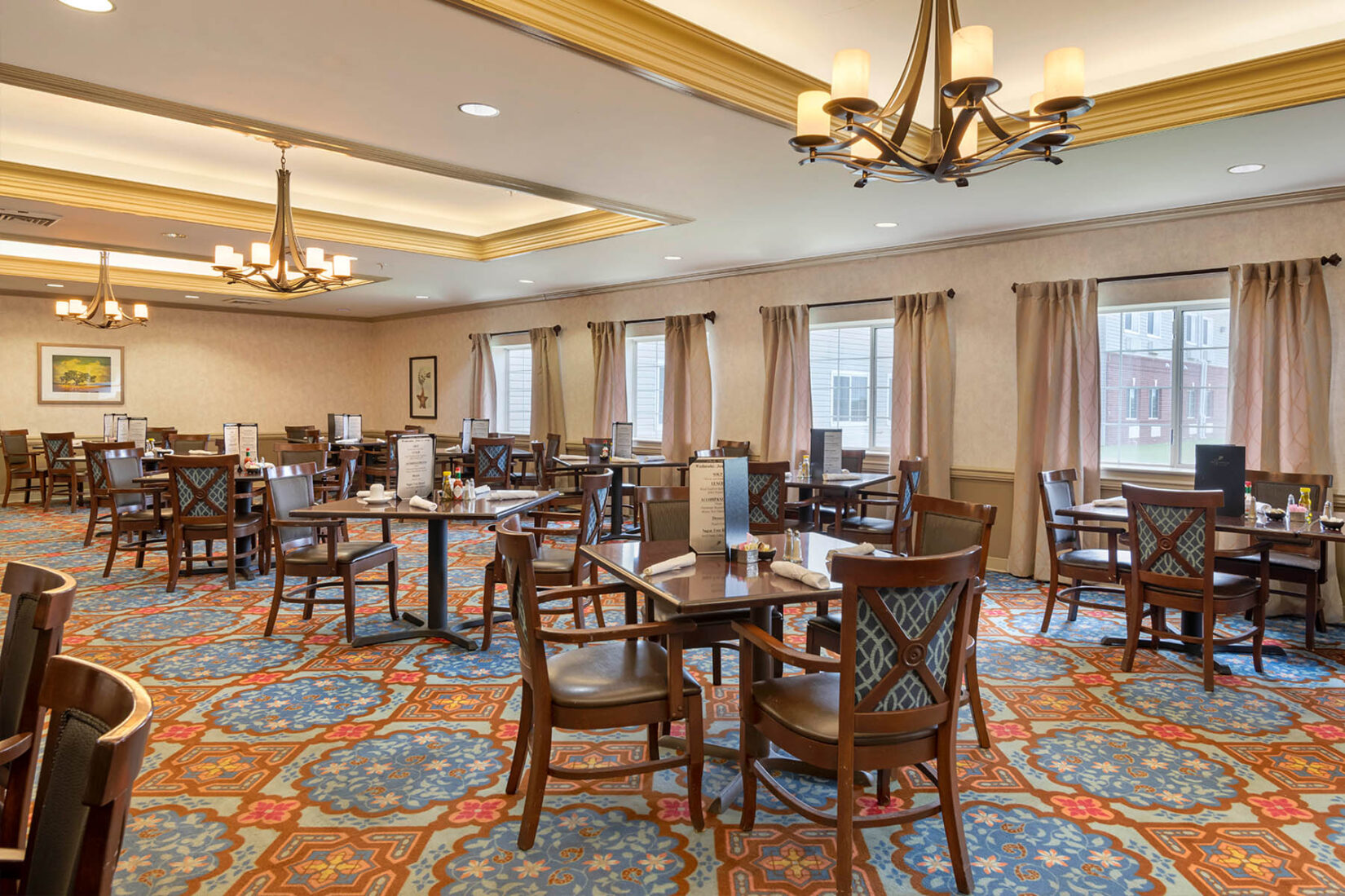 Modern Senior Living Dining Room