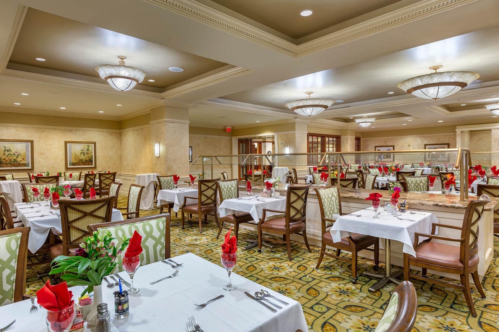 Upscale Senior Living Dining Room Area