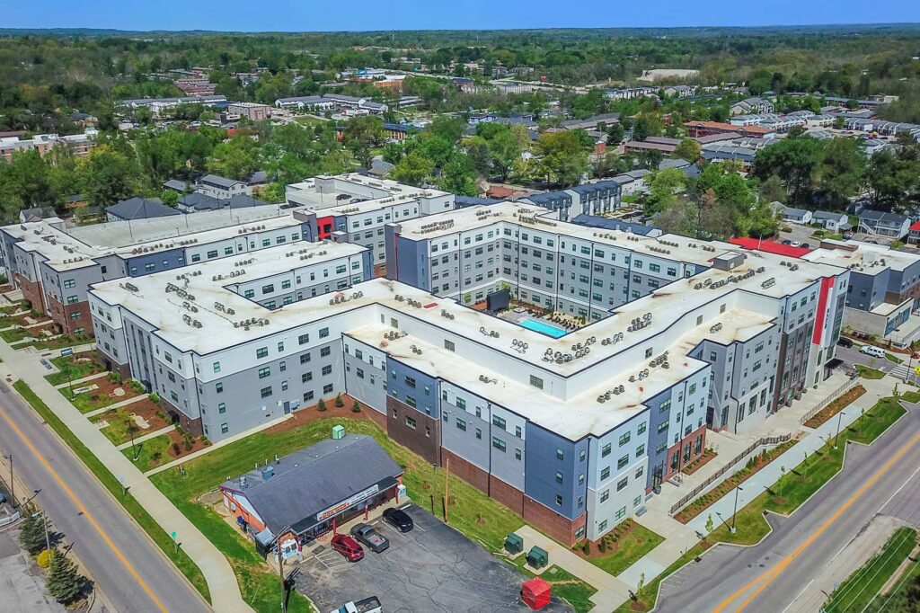 Drone Photography of CA Management Evolve Bloomington