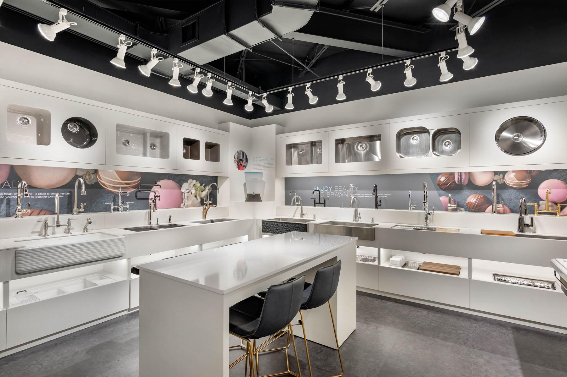 kohler showroom sinks faucets